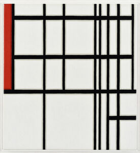 Piet Mondrian, #11, White and Red, 1937, First State