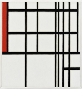 Piet Mondrian,11, White and Red, 1937, First State