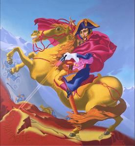 """Napoleon Crossing the Alps"""