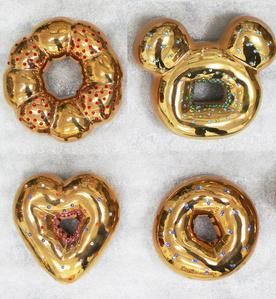 Gold Ceramic Donuts IV