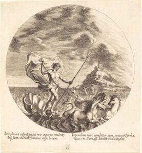 Deucalion and Pyrrha Land on Parnassus