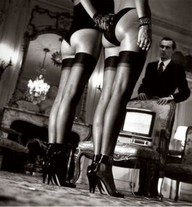 Legs in Stockings at Attention