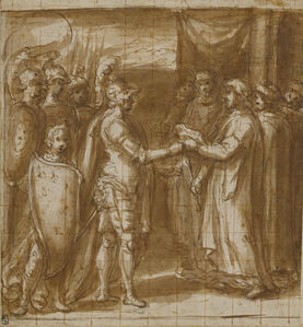 Cardinal Albornoz Gives the Farnese the Keys to Valentino