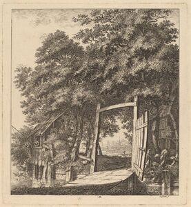 A Rustic Gate beside a Lake