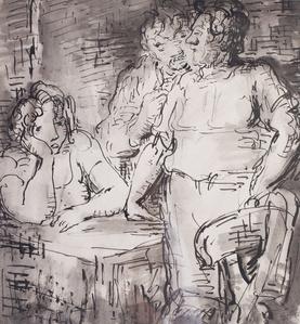 A discussion in an inn
