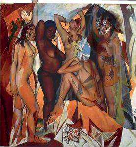 "Releitura da obra ""Les demoiselles d'Avignon"" de Pablo Picasso"
