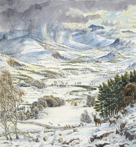 The Spey Valley From Kingussie, Inverness-Shire