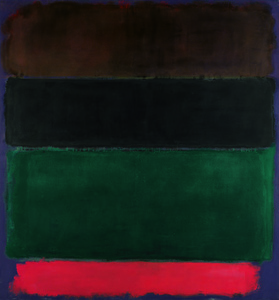 Untitled (Red-Brown, Black, Green, Red)