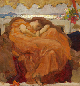 "Sketch for ""Flaming June"""
