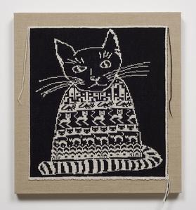 Black Cat in Black Sweater