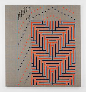 Fluorescent Orange and Navy Blue Shadow Weaving Draft