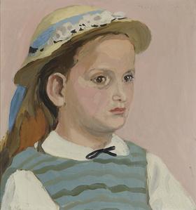 Lizzie in a Straw Hat