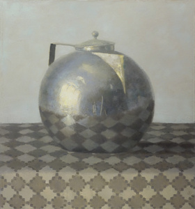 Silver Teapot on Diamond Cloth