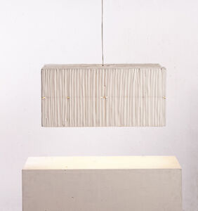 Two-floor lamp white from the series 'Lampenfieber'