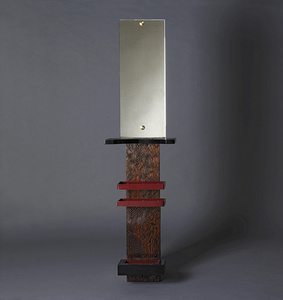 Umbrella stand with a mirror