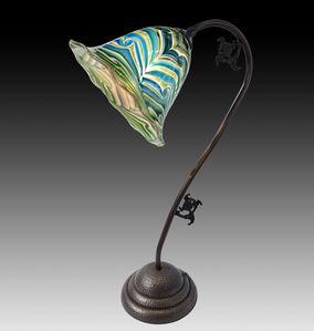 Aqua Cobalt, Golden King Tut Desk Lamp