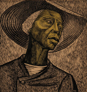 "Sharecropper, alternatively titled ""Negro Woman,"" and ""Cosechadora de algodón"""