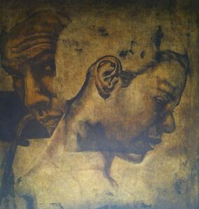 Two Figures inhabit BM. Work 2