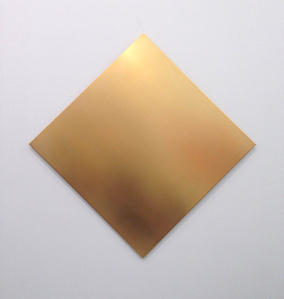Untitled  (golden square 45° turned)