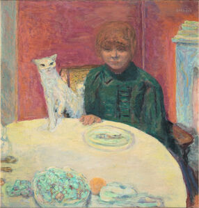 Woman with a Cat, or The Demanding Cat