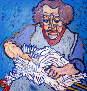 Woman & Chicken