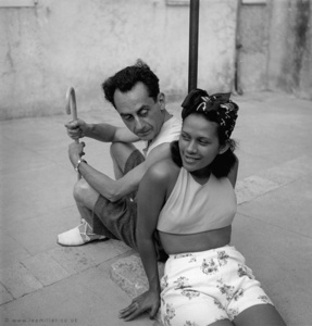 Man Ray and Ady Fidelin, Mougins, France