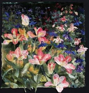 Flame Tulips with Columbine