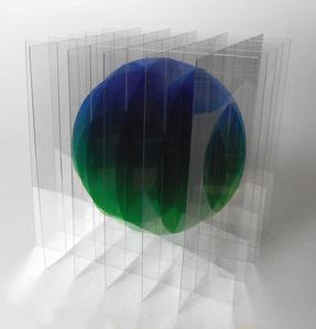 Dessin/Volume: Balle Flottante IV (Bleu-Vert) 1/6