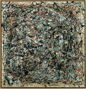 Portrait of V.I. Lenin in the Style of Jackson Pollock VII