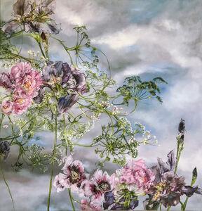 Pivoines Pavots Iris et Ombelles, Ciel Bleu 1