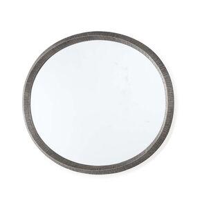 A glass mirror with a molten aluminum frame
