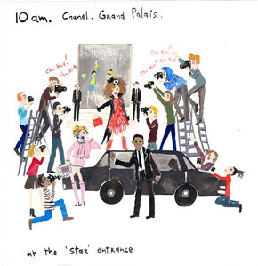An Artist's Diary of Paris Fashion Week (Chanel Star Entrance)