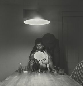 Untitled (Man and mirror) (from Kitchen Table Series)