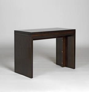 Convertible console / table. The top swivels and unfolds.