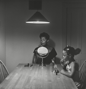Untitled (Woman and daughter with makeup) (from Kitchen Table Series)