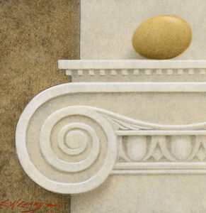 Brown Egg on Ionic Capital