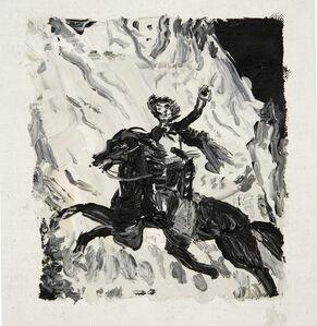 Murrieta escapando a caballo