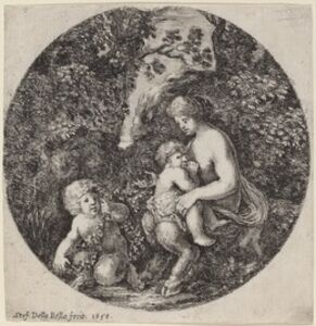 Female Satyr Nursing a Child in a Wooded Landscape