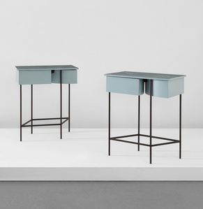 Pair of bedside tables, from Museum Tower, New York
