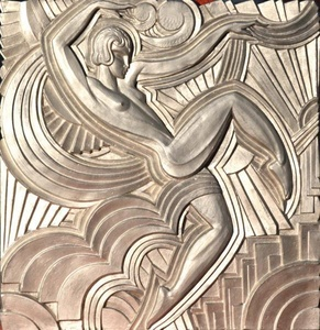 Replica of the 'Folies Bergeres' Pediment, by Maurice Picaud, Art Deco