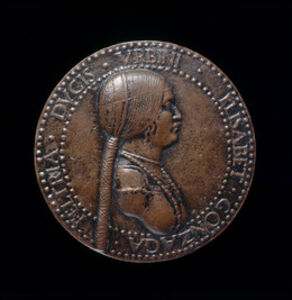 Elisabetta Gonzaga, died 1526, Duchess of Urbino, Wife of Guidobaldo I 1489 [obverse]