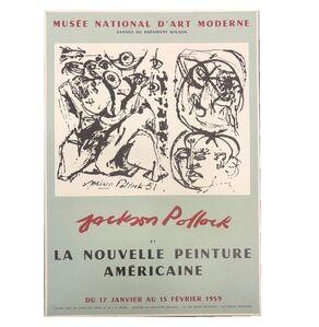 """""""Jackson Pollock et la Nouvlle Peinture Americaine"""", 1959, Exhibition Poster, Musee National D'Art Paris,"""