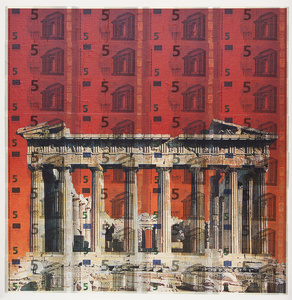 Art Currency -  Parthenon in Flames