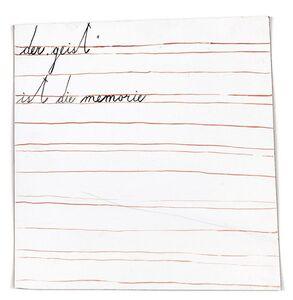 """Der """"Geist"""" ist die Memorie, m. 8"""