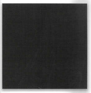 painting, white and yellow dots on black