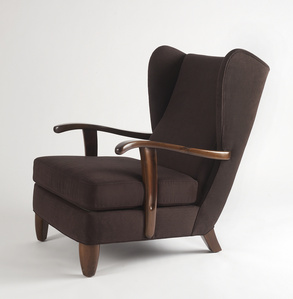 Rare, Open-Arm Lounge Chair