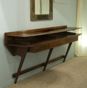 Wall Mounted Rosewood Console Table