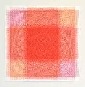 32 Layers of Rectangles, Pink and Orange