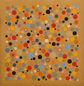 Cercles dans Espace Ocre, # 3049