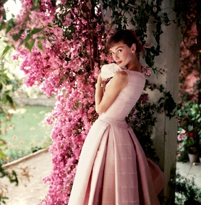 Audrey Hepburn photographed wearing Givenchy